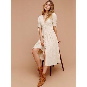 Free People Love Of My Life Midi Dress Ivory XS